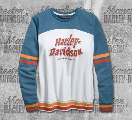 Harley-Davidson® Women's Retro Varsity Pullover Sweatshirt 96741-19VW