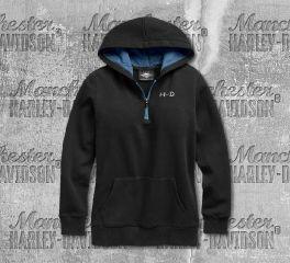 Harley-Davidson® Women's Roses Sweater Hoodie 96742-19VW
