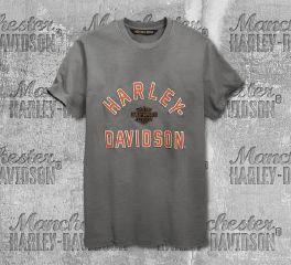 Harley-Davidson® Men's Felt Letter Slim Fit Short Sleeve Tee 96862-19VM