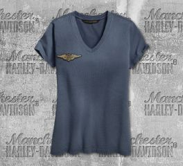 Harley-Davidson® Women's Embroidered Eagle Short Sleeve Tee 96865-19VW