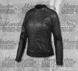 Harley-Davidson® Women's Coated Denim Convertible Jacket 97509-19VW
