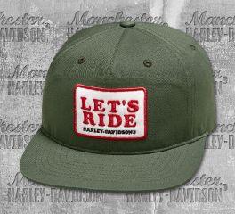 Harley-Davidson® Men's Let's Ride Flat Brim Cap 97849-19VM