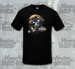 Harley-Davidson® Men's Black Old Racer Short Sleeve Tee, RK Stratman Inc. R003117