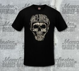 Harley-Davidson® Men's Black Sketch Text Short Sleeve Tee, RK Stratman Inc. R003127