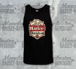Harley-Davidson® Men's Black Fly Sign Sleeveless Tee, RK Stratman Inc. R003170
