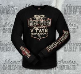 Harley-Davidson® Men's V-Twin Long Sleeve Tee, RK Stratman Inc. R003173
