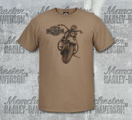 Harley-Davidson® Men's Brown Rough MC Short Sleeve Tee, RK Stratman Inc. R003143