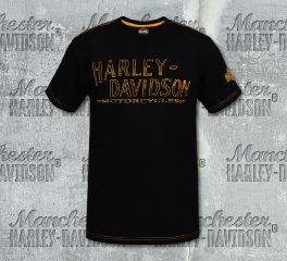Harley-Davidson® Men's Black H-D® Line Short Sleeve Tee, RK Stratman Inc. R003175