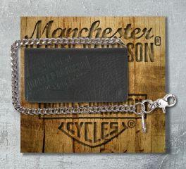 Harley-Davidson® Men's American Bison B&S® Biker Bi-Fold Tall Wallet, Leather Accessory Source US1876L