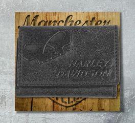 Harley-Davidson® Men's Classic Billfold Bar & Shield® Wallet, Leather Accessory Source UN4635L