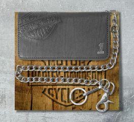 Harley-Davidson® Men's Embossed Bar & Shield® Bi-Fold Wallet, Leather Accessory Source CR2309L
