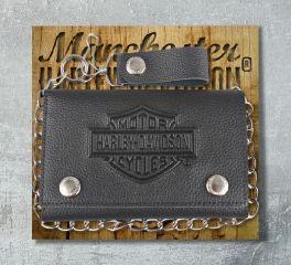 Harley-Davidson® Men's B&S® Embossed Trucker Tri-Fold Plus Wallet, Leather Accessory Source XML3514