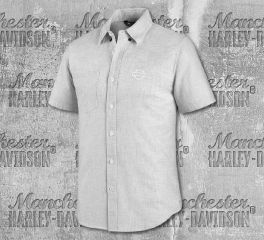 Harley-Davidson® Men's Melange Woven Short Sleeve Shirt 99073-20VM