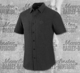 Harley-Davidson® Men's Melange Woven Short Sleeve Shirt 99072-20VM