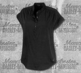 Harley-Davidson® Women's Stretch Rayon Short Sleeve Shirt 96870-19VW