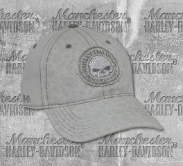 Harley-Davidson® Women's Willie G Skull Stone Washed Baseball Cap, Global Products, Inc. BC102954