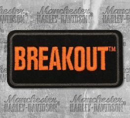 Harley-Davidson® Small Breakout Embroidered Emblem, Global Products, Inc. EM159642