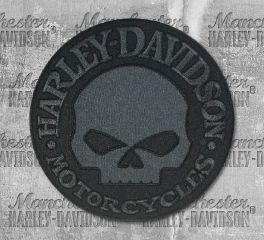 Harley-Davidson® Large Willie G Skull Emblem Patch, Global Products, Inc. EM1048804