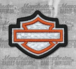 Harley-Davidson® Embroidered Reflective Blank B&S® Emblem Patch, Global Products, Inc. EM1144381