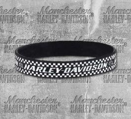 Harley-Davidson® Men's Ignition Black Debossed Wristband, Global Products, Inc. WB33430