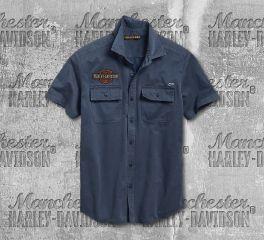 Harley-Davidson® Men's Iron and Freedom Short Sleeve Shirt 96001-19VM