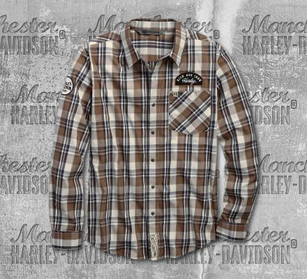 Harley-Davidson® Men's Kick Ass Iron Long Sleeve Shirt 96635-19VM