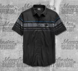 Harley-Davidson® Men's Stripe Logo Short Sleeve Shirt 96656-19VM