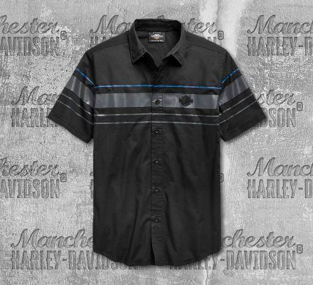 Harley-Davidson® Men's Stripe Logo Short Sleeve Shirt 96656-19VM