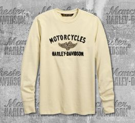 Harley-Davidson® Men's Winged Pistons Long Sleeve Tee 96668-19VM