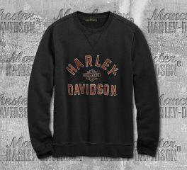Harley-Davidson® Men's Felt Letter Pullover Sweatshirt 96689-19VM