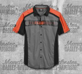 Harley-Davidson® Men's Performance Colorblocked Short Sleeve Shirt 96754-19VM