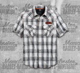 Harley-Davidson® Men's Performance Plaid Short Sleeve Shirt 96756-19VM