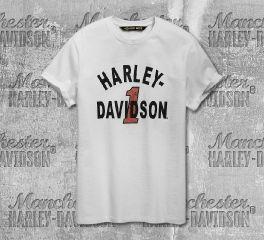 Harley-Davidson® Men's Cracked Print Short Sleeve Tee 96790-19VM