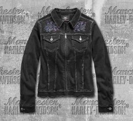 Harley-Davidson® Women's Rose Denim Casual Jacket 96858-19VW