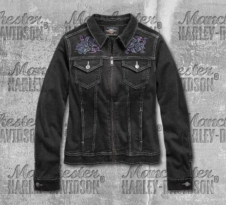 Harley-Davidson® Women's Rose Denim Casual Jacket 96858-19VW