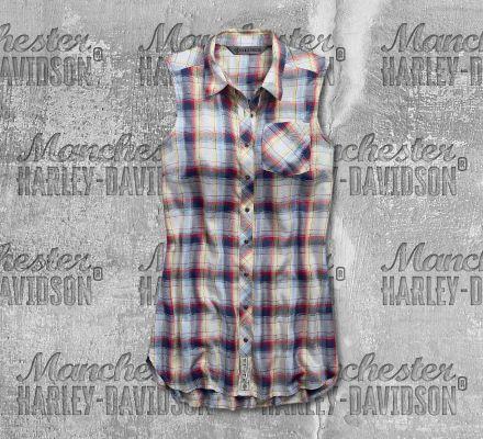 Harley-Davidson® Women's Plaid Sleeveless Shirt 96860-19VW
