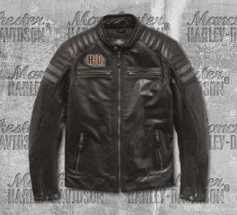 Harley-Davidson® Men's Hutto Leather Riding Jacket 97033-19EM