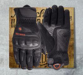 Harley-Davidson® Men's Woodcreek Leather & Mesh Gloves 97150-19EM