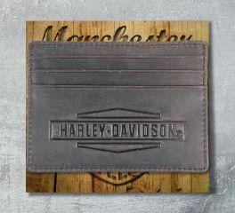 Harley-Davidson® Men's Crazy Horse Front Pocket Leather Wallet, Leather Accessory Source