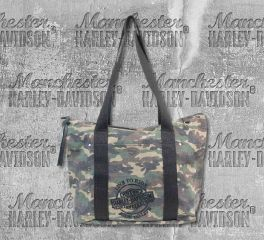 Harley-Davidson® Women's Camo Print Canvas Tote, Leather Accessory Source WC1300S
