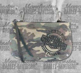 Women's Camo Canvas Hip Bag with Strap