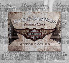 Harley-Davidson® American Classic Logo Tin Sign, Nostalgic Art 23144
