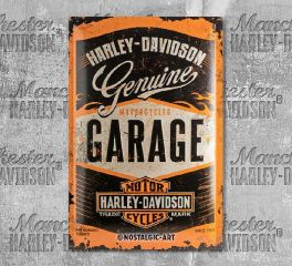 Harley-Davidson® Garage Tin Sign, Nostalgic Art 24001
