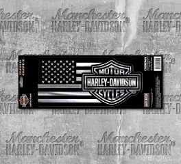 Harley-Davidson® Silver Bar & Shield® Decal 32700