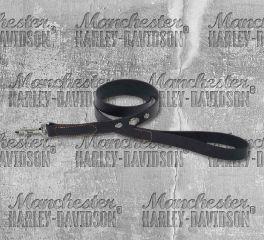 Harley-Davidson® Leather Dog Leash, Nostalgic Art H1045-BK104