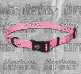 Harley-Davidson® Pink Barbed Wire Adjustable Dog Collar H6321-H-PBW12