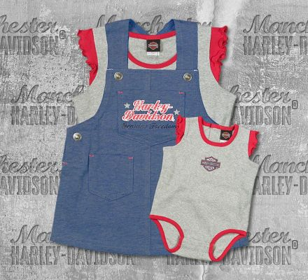 Harley-Davidson® New Born Girl Jersey Jumper Set with Creeper, OkisOnent GmbH 3002679