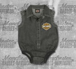 Harley-Davidson® New Born Boy's Denim Creeper, OkisOnent GmbH 3052807