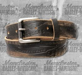 Harley-Davidson® Men's Distressed Freedom Leather Belt HDMBT10818