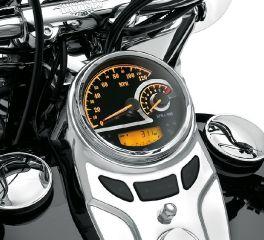Harley-Davidson® Black Dial Analog Speedometer/Tachometer 74776-11D